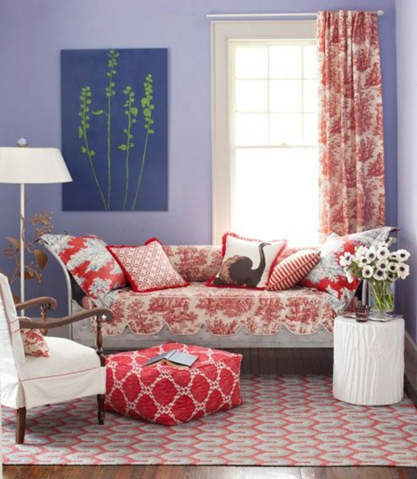 Wohnzimmer streichen 106 inspirierende ideen for Wandfarbe lila wirkung