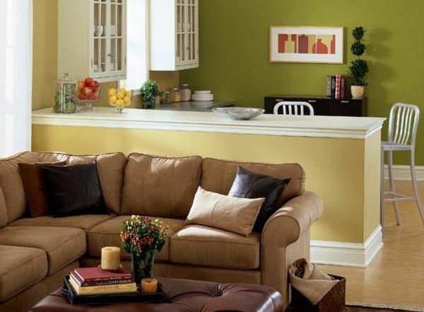 Wohnzimmer streichen 106 inspirierende ideen - Colores para pintar una cocina comedor ...