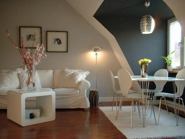Wohnzimmer ideen braune couch