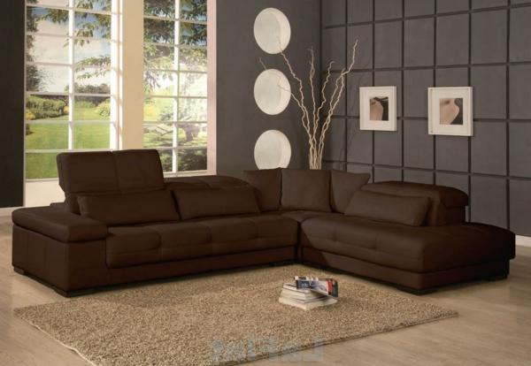 Wohnzimmer ideen braune couch  Wohnzimmer streichen - 106 inspirierende Ideen - Archzine.net