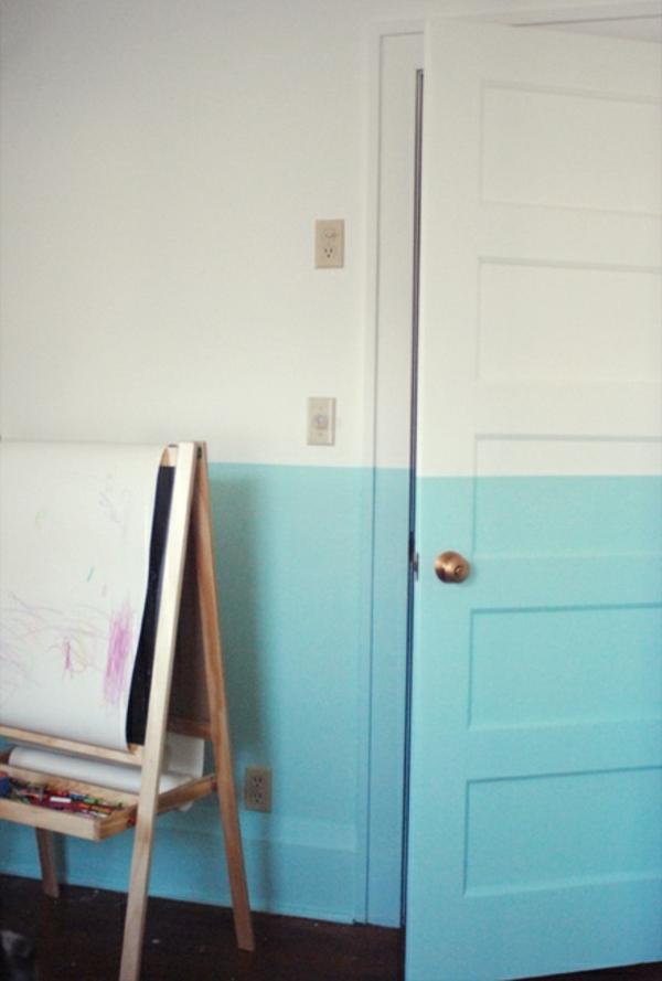 weiß und hell blau als farben für interessante zimmer gestaltung