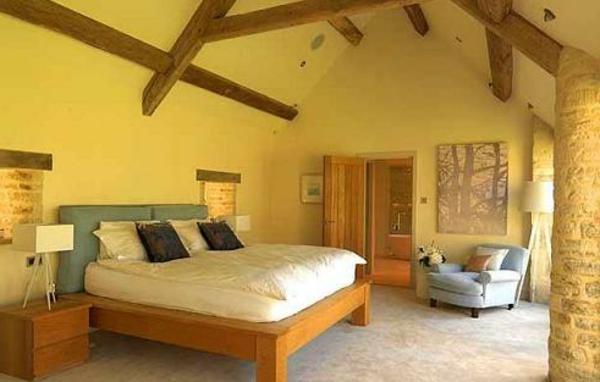 Schlafzimmer wandfarbe gelb ihr traumhaus ideen - Wandfarbe gelb kombinieren ...
