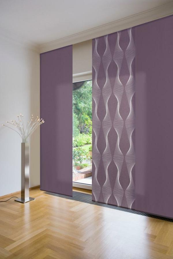 Schiebevorhange wohnzimmer modern
