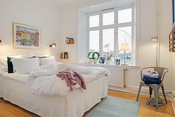 Schlafzimmer-gestalten-im-skandinavischen-Stil-schlichte-Möbel