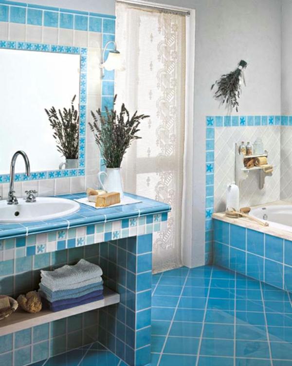Badezimmer badezimmer weiß blau : 50 wunderschöne Bad Fliesen Ideen - Archzine.net