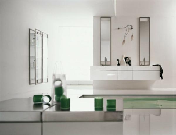 badezimmer-grün-und-weiß kombinieren