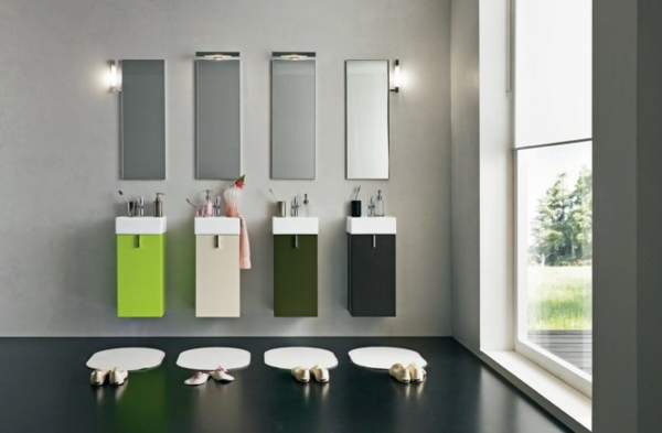badezimmer-ideen- für vier familien mitglieder