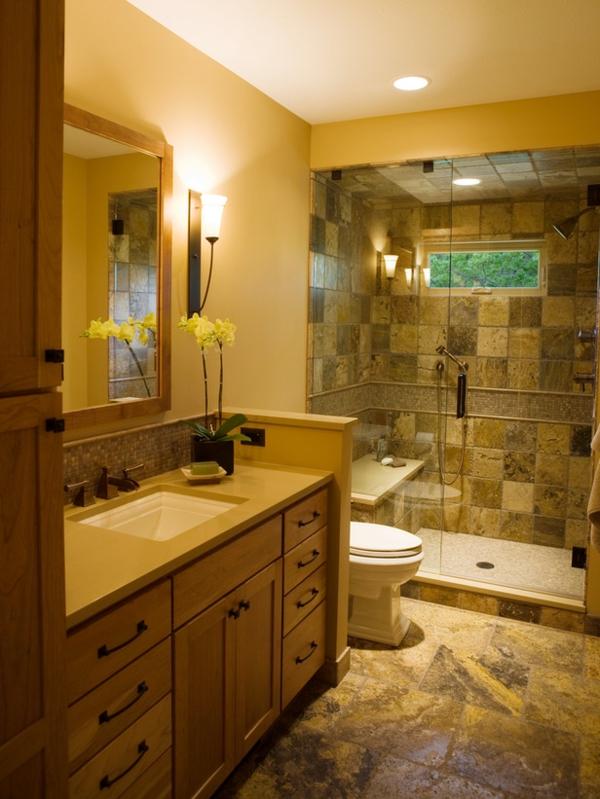 badezimmer-luxus- elegante fliesen und duschkabine - kreative bad fliesen ideen