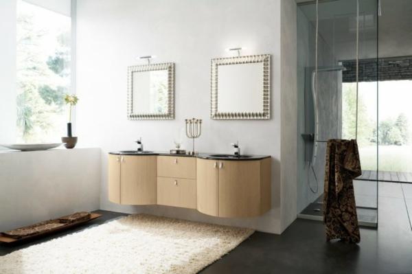 badezimmer-möbeln in ockra farbtönung