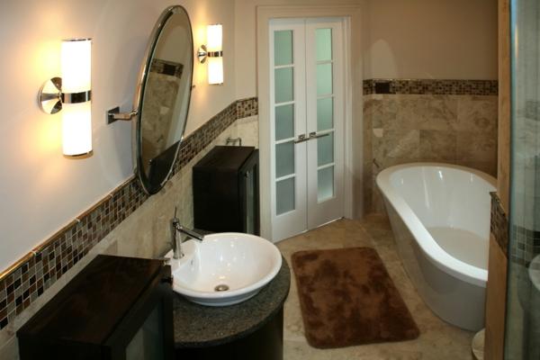 badezimmer-mit-modernen-fliesen-ausstatten- rundes spiegel