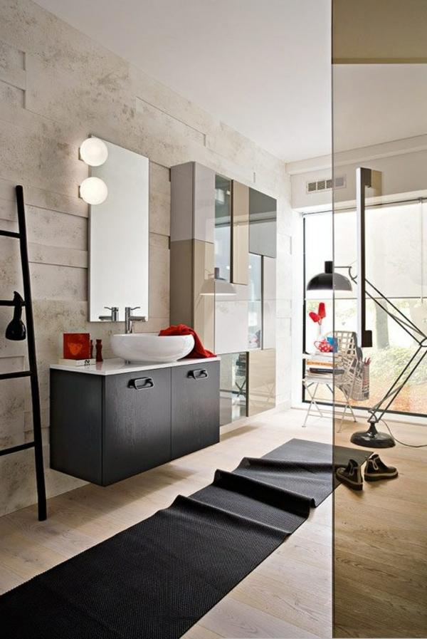 badezimmer-modern-ausstatten - teppich, treppe