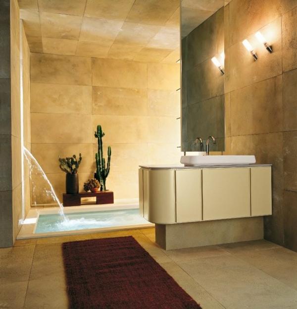 badezimmer-modern-gestalten- dekokakteen und goldene farbe