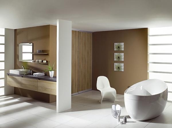 badezimmer-ockra-farbe-sehr-moderne raumgestaltung