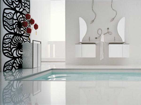 badezimmer-originelle-wandgestaltung - und pool