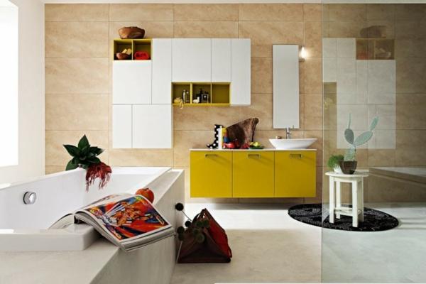 badezimmer-viele-farben- schrank in gelb