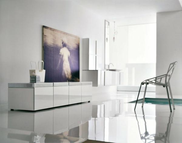 badezimmer-weiße gestaltung mit einem akzent