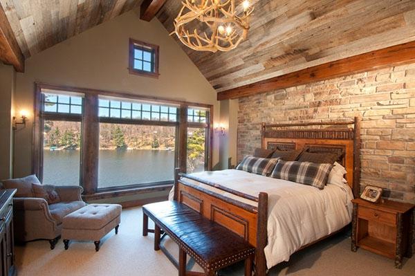 baracke-schlafzimmer-ultramodernes-design brettdecke