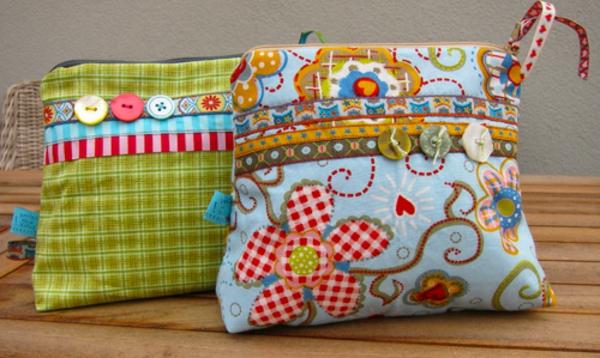 basteln-mit-knöpfen-handtaschen-dekorieren- bunte farben