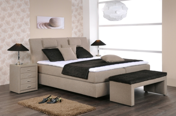 schlafzimmer ideen boxspringbett. Black Bedroom Furniture Sets. Home Design Ideas