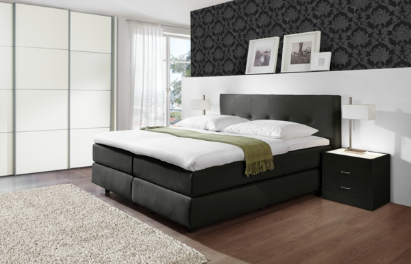 boxspringbetten test vor und nachteile. Black Bedroom Furniture Sets. Home Design Ideas