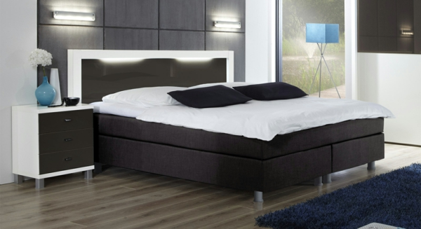 boxspringbett modern. Black Bedroom Furniture Sets. Home Design Ideas