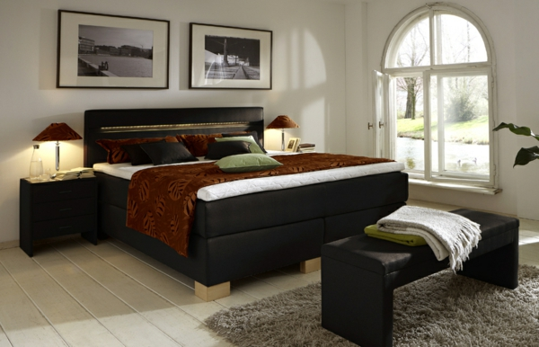 boxspringbett holzoptik. Black Bedroom Furniture Sets. Home Design Ideas