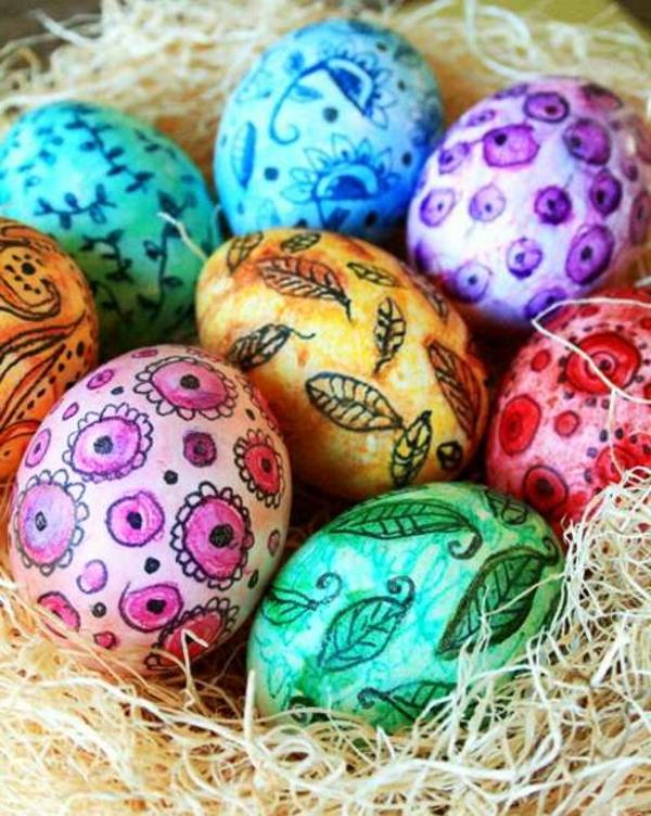 figuren an eiern malen - bastelideen für ostern