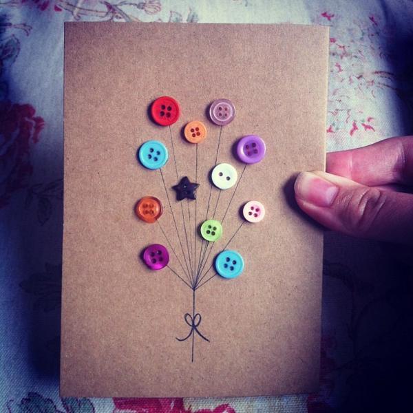 Basteln mit kn pfen 26 super kreative ideen for Pinterest bastelideen