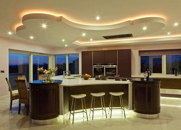 designer-küche-moderne-deckenleuchten - super gestaltung