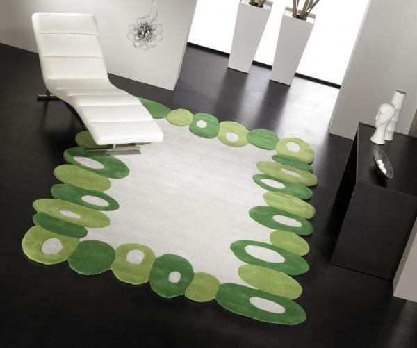 designer-teppiche-grün-und-weiß- rahmen