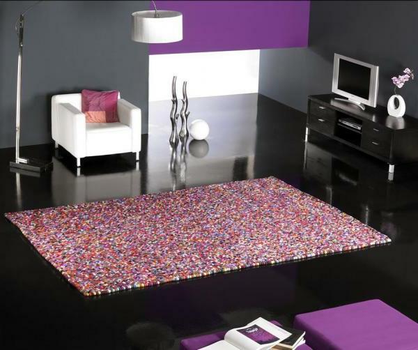 Trendy Wohnzimmer Farbe Programm With Teppich Farbig.