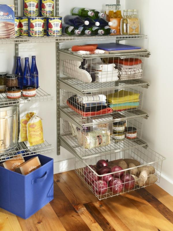 platz in der küche sparen -mit draht - regalen
