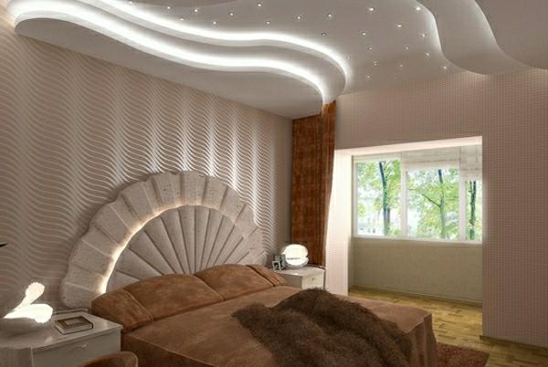 elegante-Hängedecke-weißes-Schlafzimmer