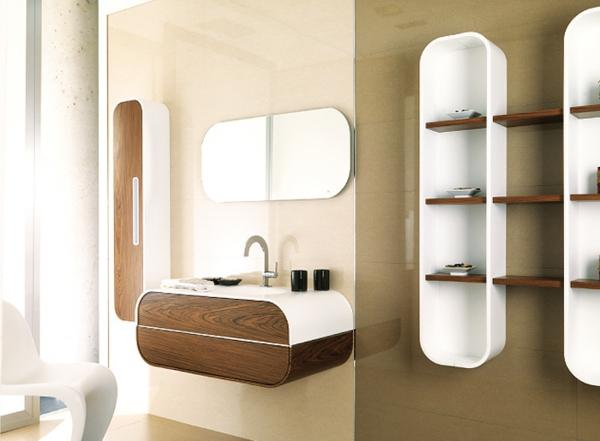 elegantes-badezimmer-moderne-ideen- holzelemente