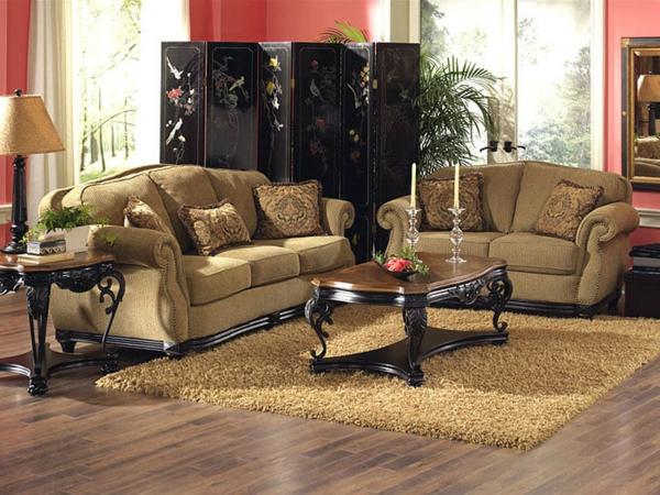 wohnzimmer farblich gestalten braun raum und. Black Bedroom Furniture Sets. Home Design Ideas