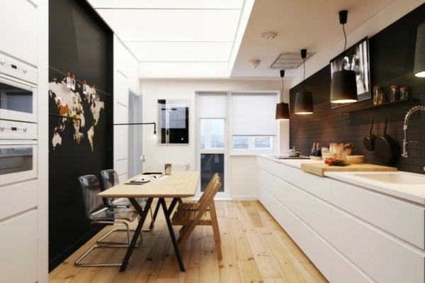 esszimmer-und-küche-moderne-gestaltung- akzentwand