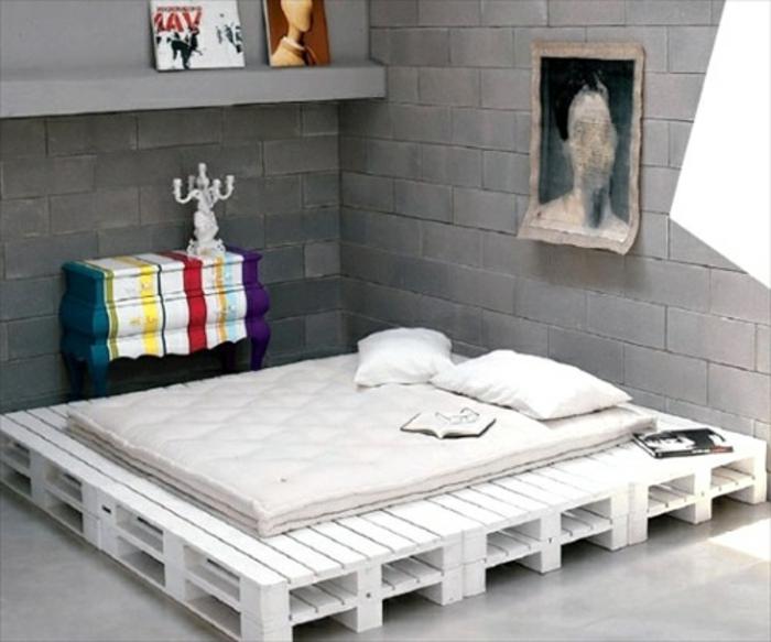 Bett selber bauen paletten  ▷ Möbel aus Paletten - 95 sehr interessante Beispiele!