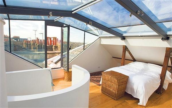 extravagante-terrasse-mit-einem-bett- moderne ideen