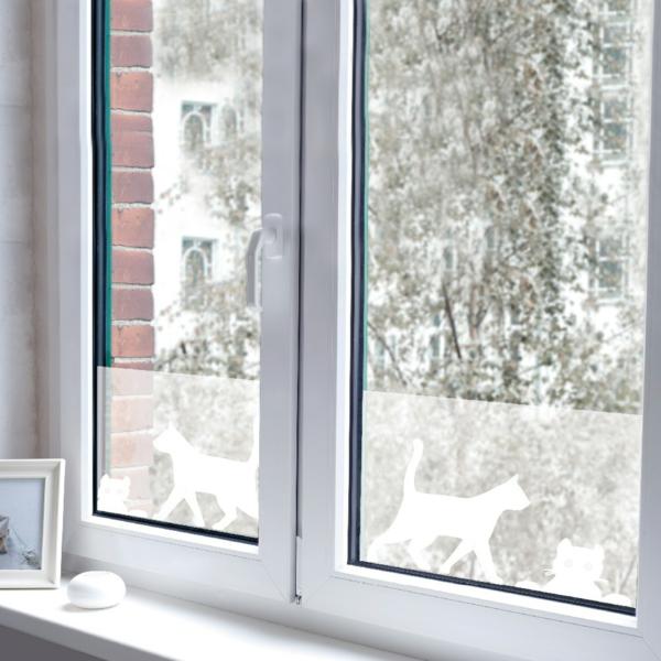 Fenster blickdicht von auen top cheap cheap blickdichte folie fr das fenster im wohnzimmer with - Folie fenster blickdicht ...