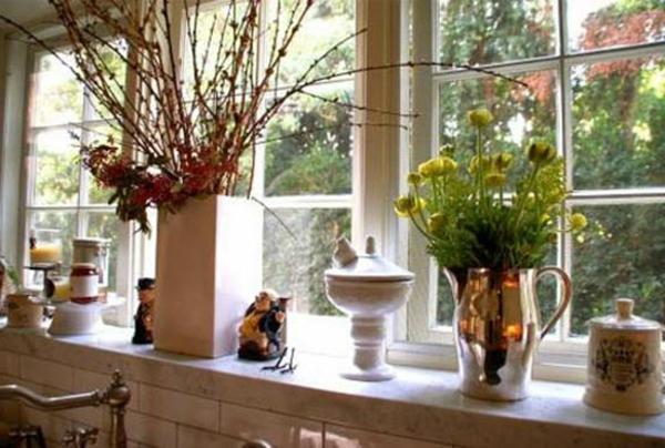 Küchenfenster dekorieren  27 interessante Vorschläge für Fensterdeko - Archzine.net