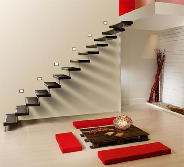 freischwebende treppen 25 ultramoderne vorschl ge. Black Bedroom Furniture Sets. Home Design Ideas