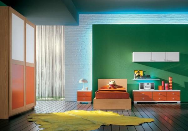 frische-farben-fürs-jugendzimmer - gelber teppich
