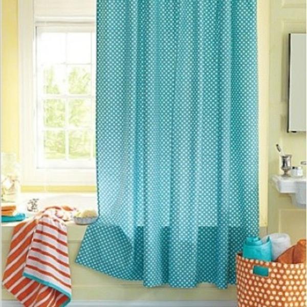 Blaue Tapete Mit Wei?en Punkten : blaue gardinen mit wei?en punkten