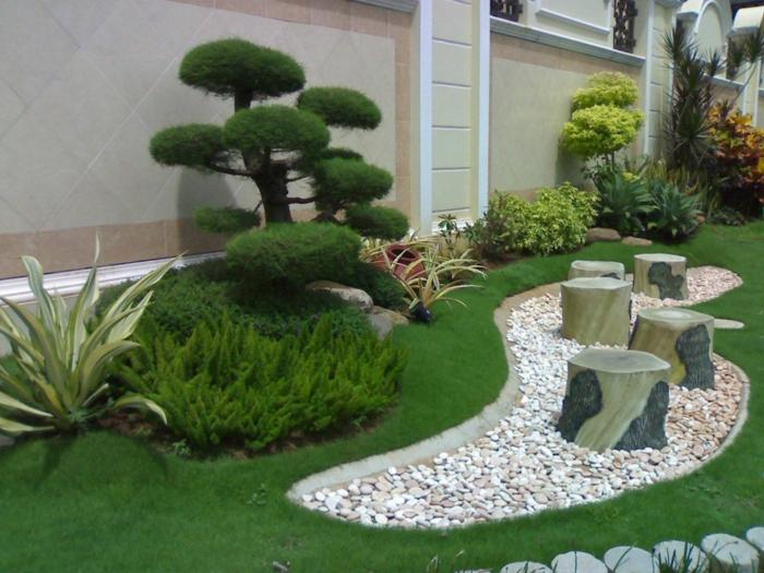 garten-gestaltung-moderne-gärten-mit-steinen