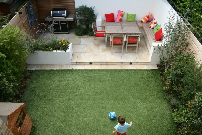 gartengestaltung-kleine-gärten-grüner-gras