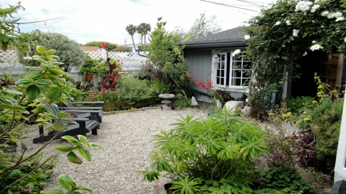 gartengestaltung-mit-kies-kleine-gärten-gestalten