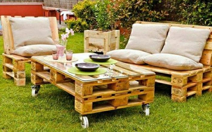 Gartenmöbel Paletten Tisch Aus Paletten