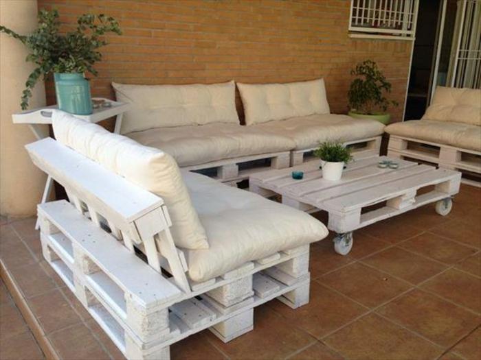 Loungemöbel balkon selber bauen  ▷ Möbel aus Paletten - 95 sehr interessante Beispiele!