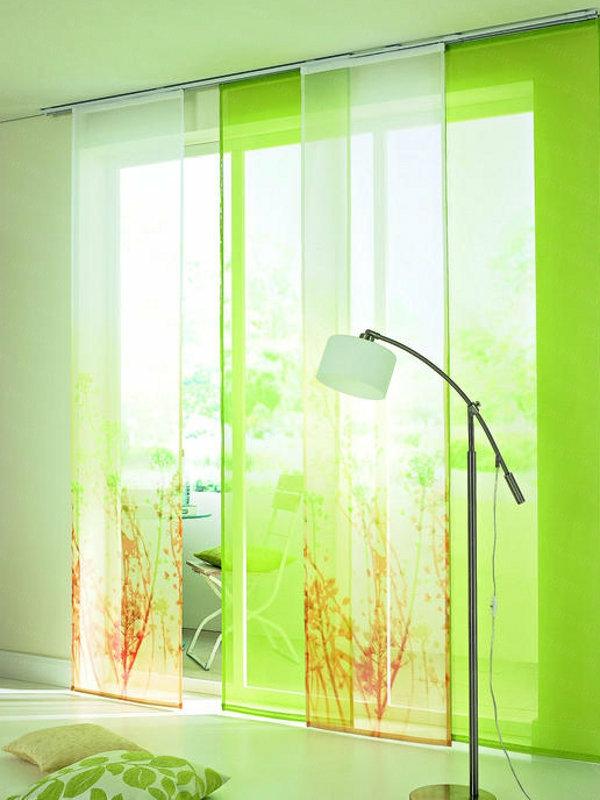 grüne-elektrische-schiebevorhänge- auffällige farbnuance