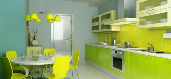 grüne-küche-gestalten- kronleuchter